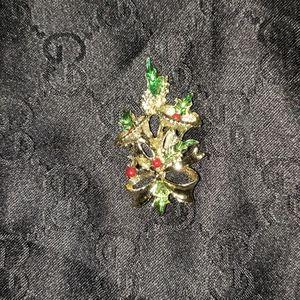 Tri color women's Christmas pendant
